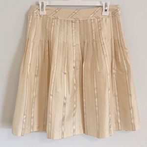The Limited Pleated Champagne Cream Mini Skirt